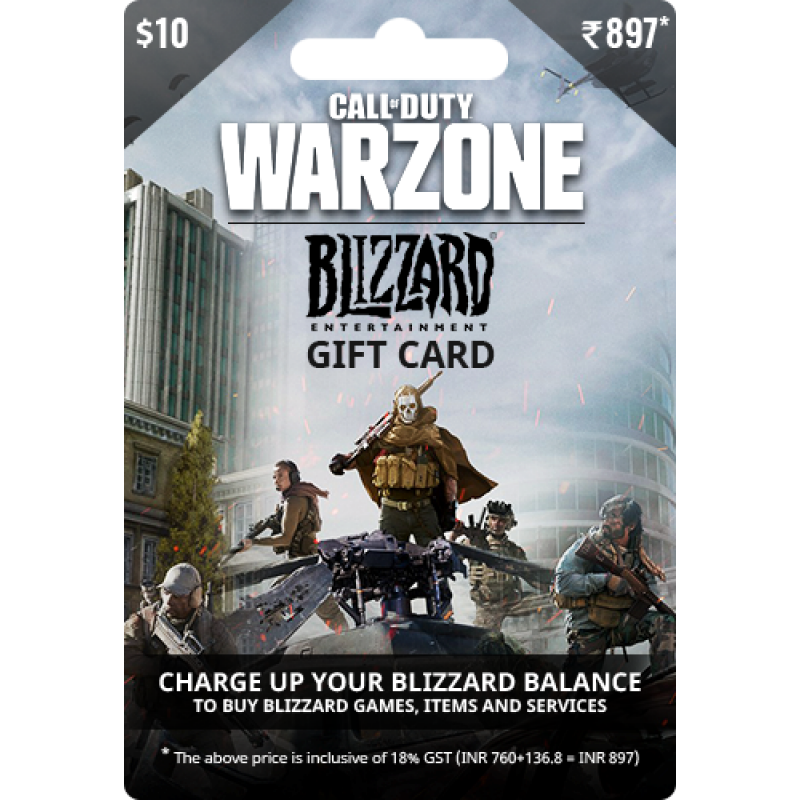 $10 USD Call of Duty Warzone Gift Card