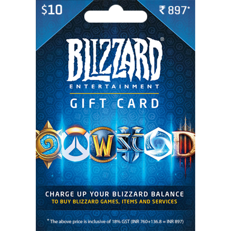 Blizzard $10 USD Gift Card