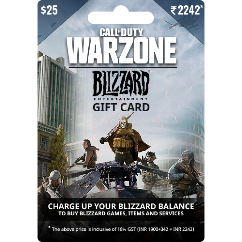 $25 USD Call of Duty Warzone Gift Card