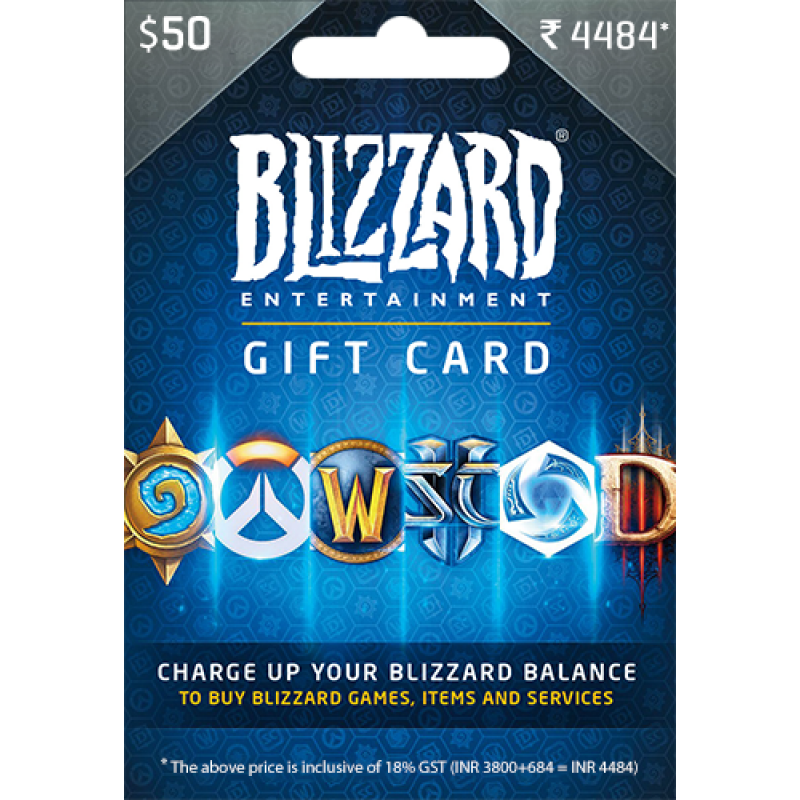 Blizzard $50 USD Gift Card
