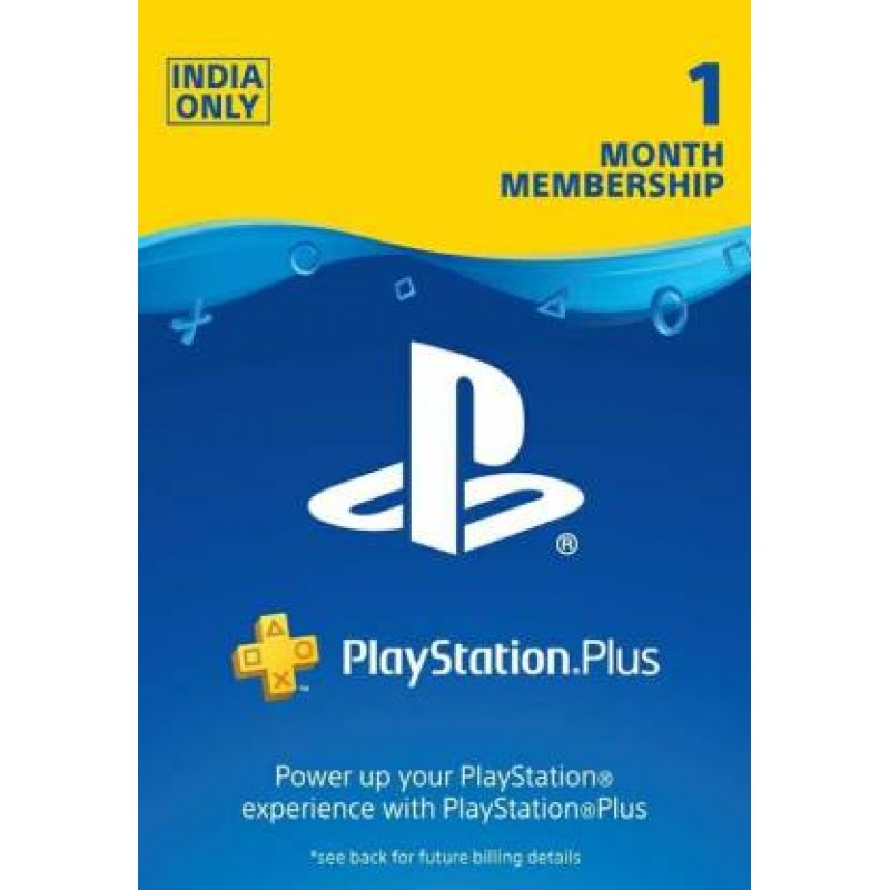 PSN Plus 1 Month Membership Card (INR Account)