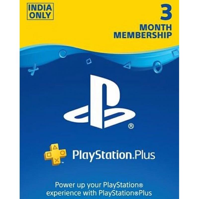 PSN Plus 3 Month Membership Card (INR Account)