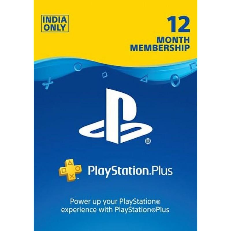 PSN Plus 12 Month Membership Card (INR Account)